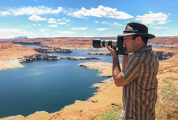 Horseshoe Bend & Beyond: Where to Take Photos in Page, AZ by Wildsight Photography. Josh Schaulis at Lake Powell.