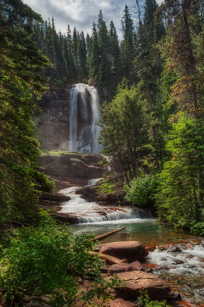 Glacier National Park: Our Favorite Easy to Access Photo Spots by Wildsight Photography. Virginia Falls, Montana