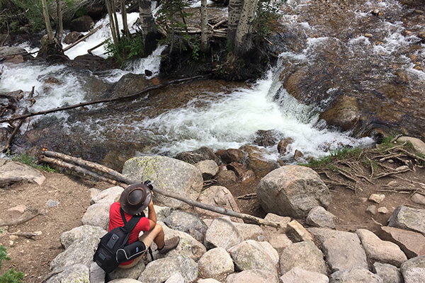 Rocky Mountain National Park: Photos of Colorado's Most Visited Spot by Wildsight Photography. Josh Schaulis at Alberta Falls.